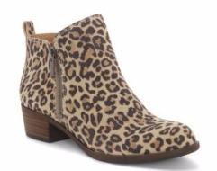 lucky brand leopard bootie
