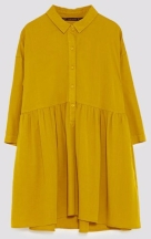 zara mustard shirt dress