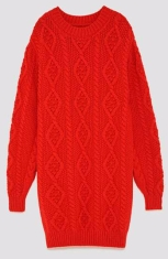 red sweater zara