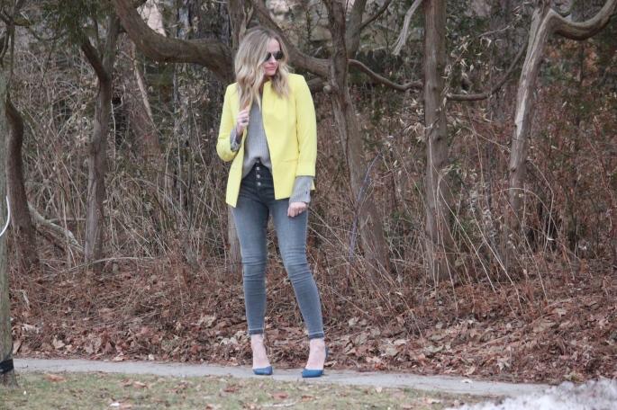 yellow blazer 1