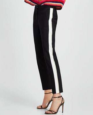 side stripe black and white pants