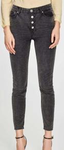 zara button fly grey jeans