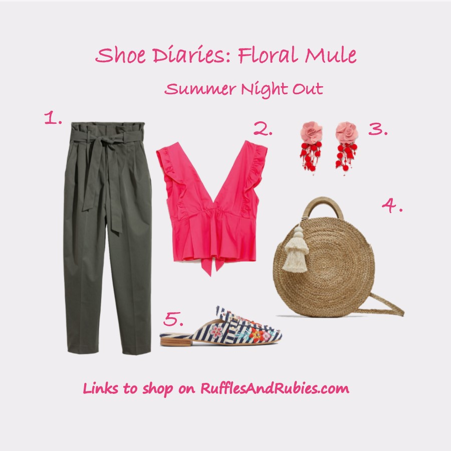 shoe diaries floral mules summer night out
