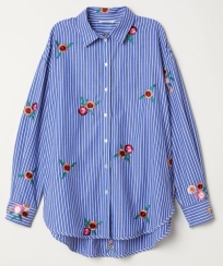 handm striped floral shirt