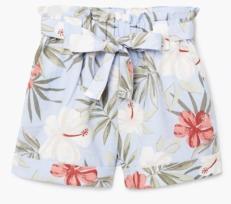 mango linen shorts