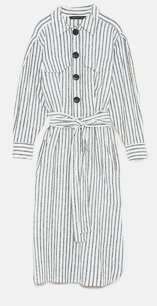 zara striped linen dress 2