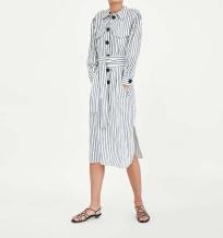 zara striped linen dress
