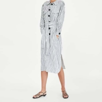 zara striped linen dress