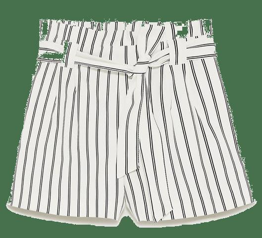 zara striped paper bag T