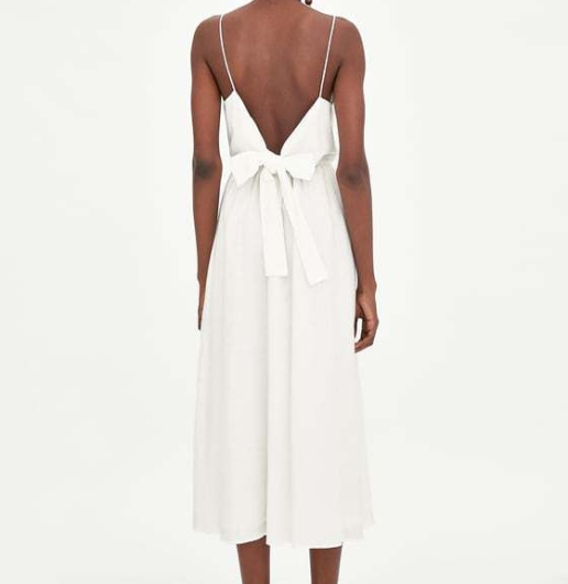zara white dress back