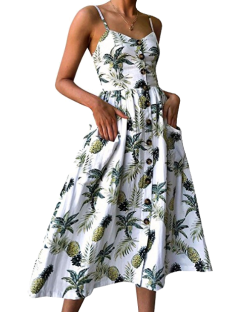 amazon floral button dress