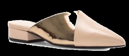 cole haan metallic mules