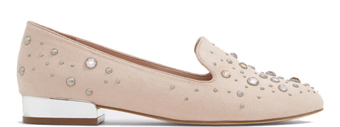 embellished pink loafers