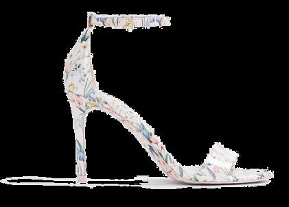 floral ankle strap sandal