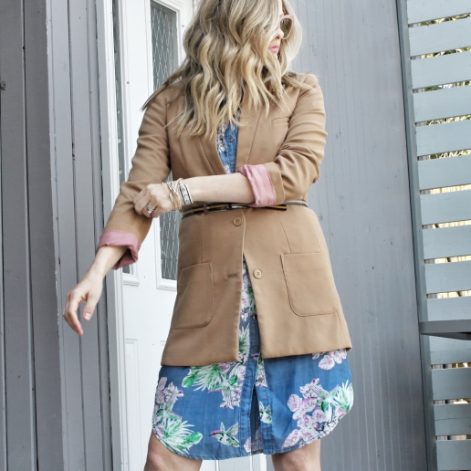 floral shirtdress and jacket 1