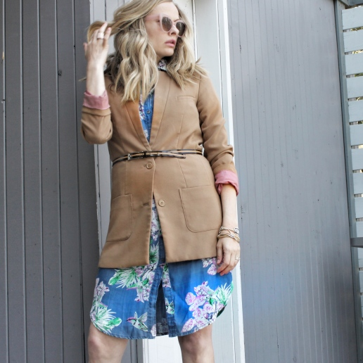 floral shirtdress and jacket 3