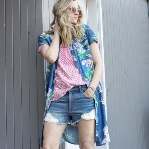 floral shirtdress as jacket 1