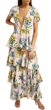 floral tiered maxi