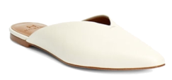 H Halson white leather mules