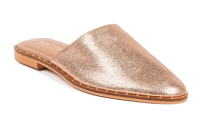 kenneth cole metallic leather mules