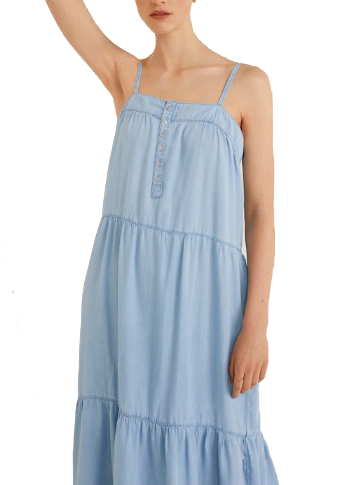 mango soft denim maxi