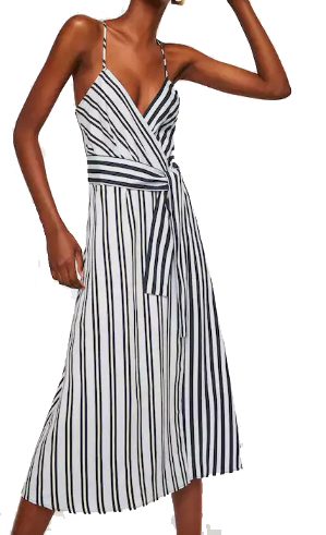 mango striped wrap dress