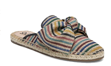 multi colour striped bow mules the bay.png