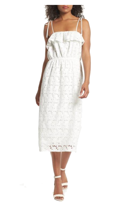 nordstrom white eyelet dress