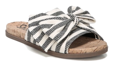 sam edelman striped bow slides