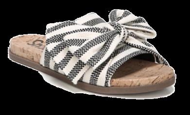 sam edelman striped bow slides