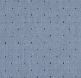blue dotted fabric
