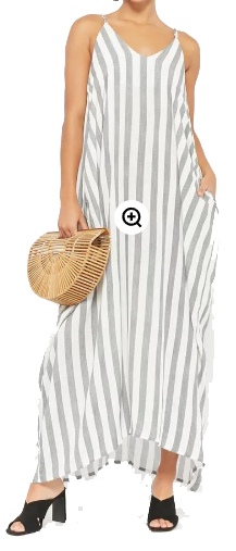 grey striped maxi forever 21