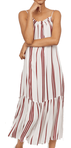 h and m striped midi