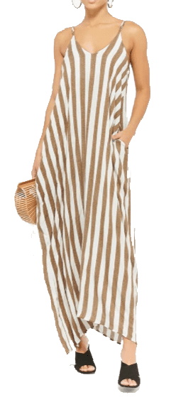 olive striped maxi forever 21