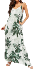 palm print maxi forever 21 front