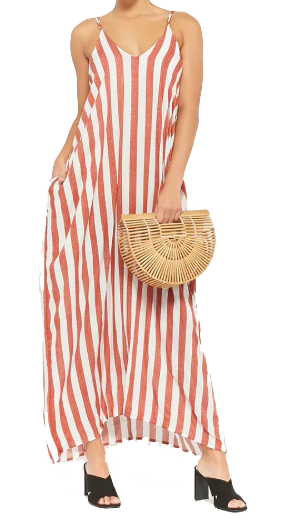 rust striped maxi forever 21