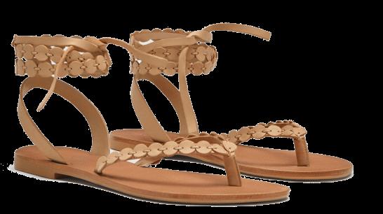 zara wrape sandals