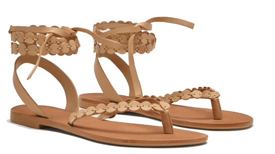 zara wrape sandals