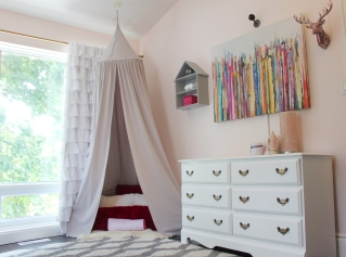 Toddler Girl Pink Room Canopy