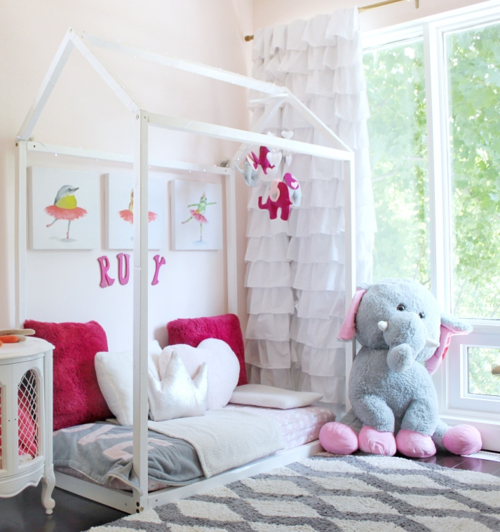 Toddler Girls Pink Room Housebed